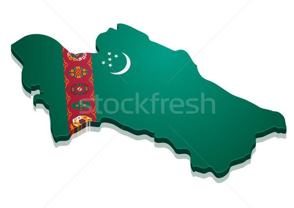 Map Turkmenistan Stock photo © unkreatives