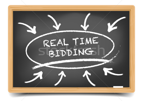 Real Time Bidding Focus Stock photo © unkreatives