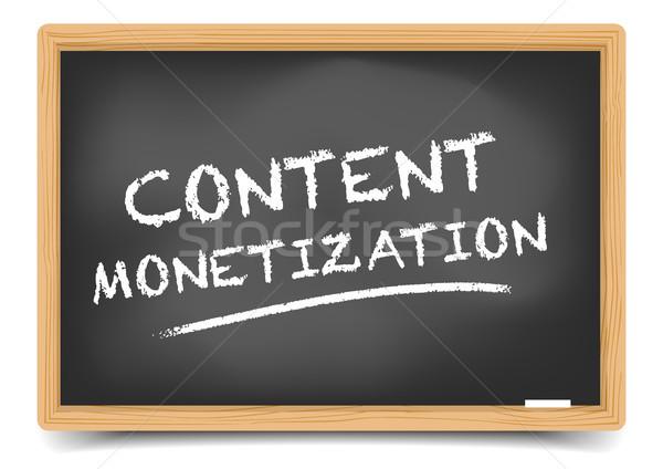 Blackboard Content Monetization Stock photo © unkreatives