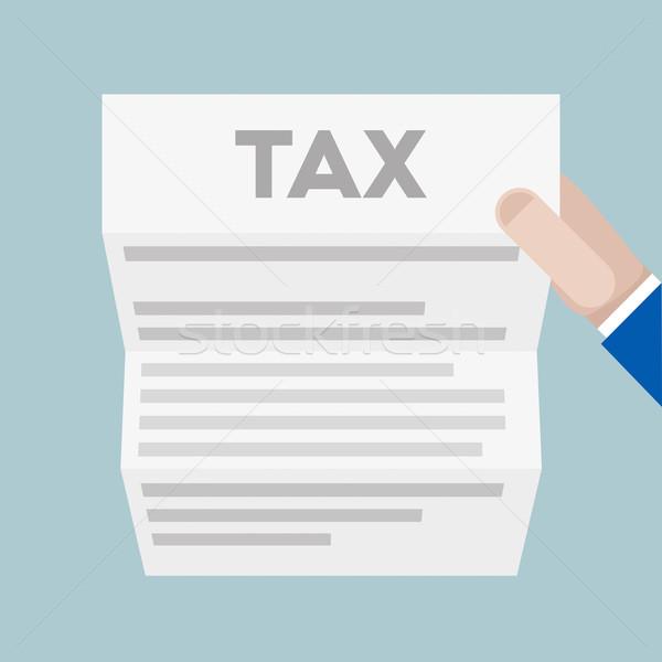Foto stock: Carta · impuesto · detallado · ilustración · mano