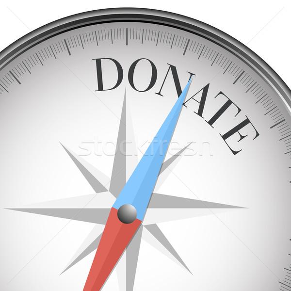 Boussole faire un don détaillée illustration texte eps10 Photo stock © unkreatives