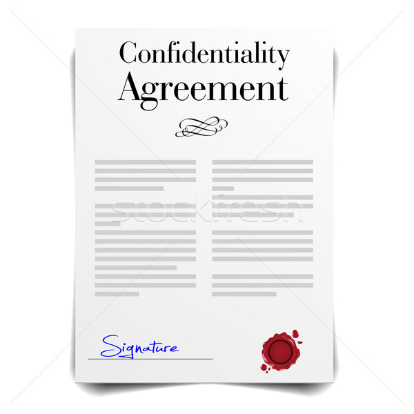 Confidentiality Agreement Stock photo © unkreatives