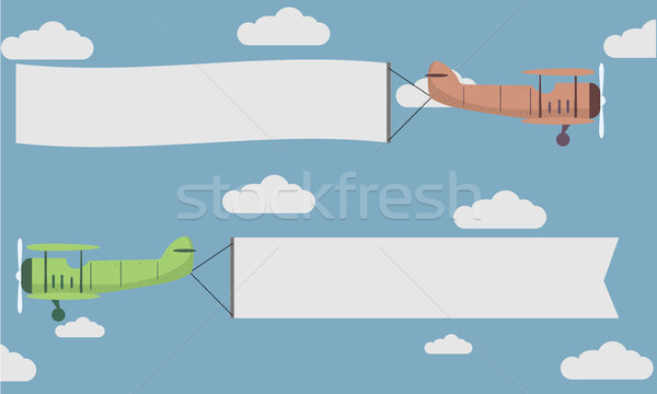 Planes Banner Flying Stock photo © unkreatives
