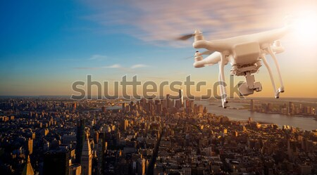 Drone flying with package over Manhattan Stock photo © unkreatives