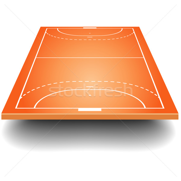 handball field with perspective Stock photo © unkreatives