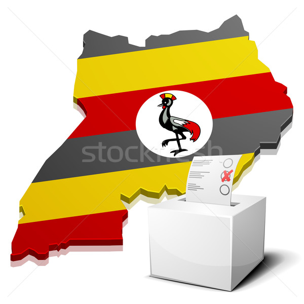 Ouganda détaillée illustration carte eps10 vecteur Photo stock © unkreatives
