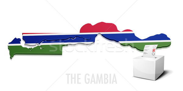 ballotbox The Gambia Stock photo © unkreatives