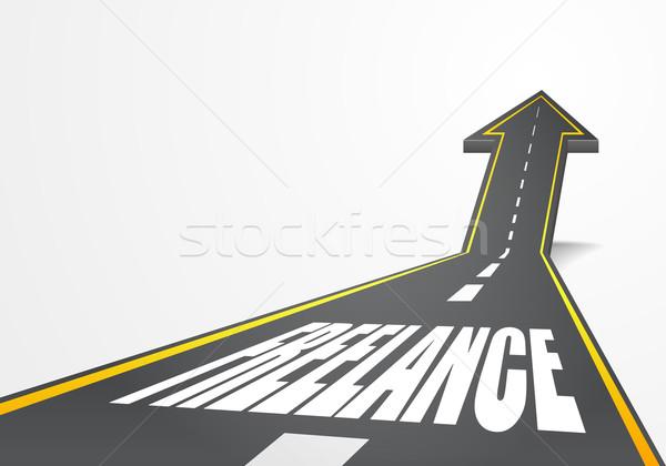 Estrada freelance detalhado ilustração rodovia para cima Foto stock © unkreatives