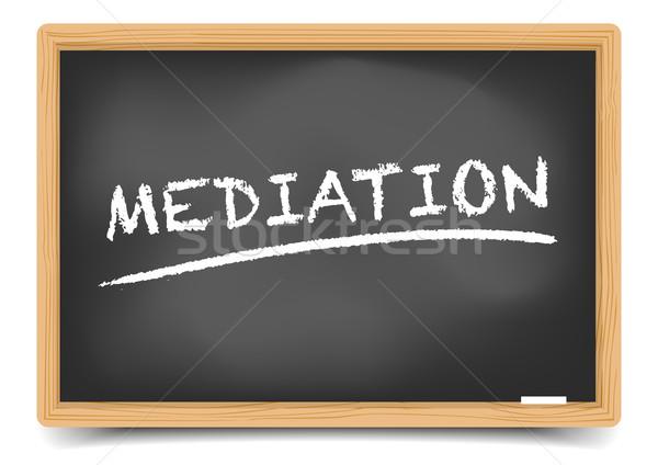 Tafel Mediation detaillierte Illustration Text eps10 Stock foto © unkreatives
