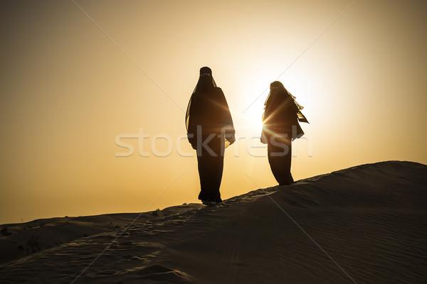 desert woman sun Stock photo © unkreatives