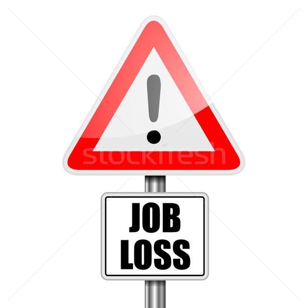 Senalización de la carretera Trabajo pérdida detallado ilustración rojo Foto stock © unkreatives