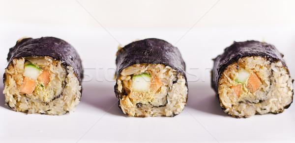 Rauw voedsel maki sushi veganistisch ingrediënten Stockfoto © unkreatives