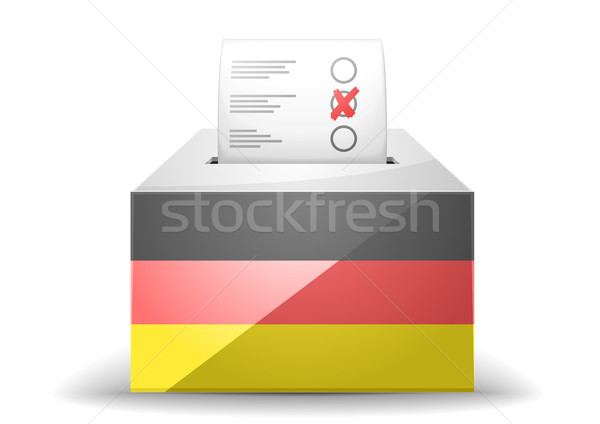 ballot box with flag Stock photo © unkreatives