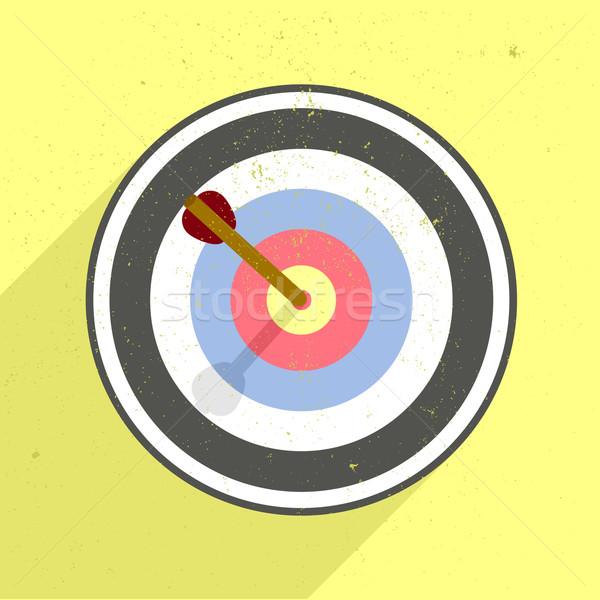 Boogschieten target gedetailleerd retro stijl illustratie Stockfoto © unkreatives
