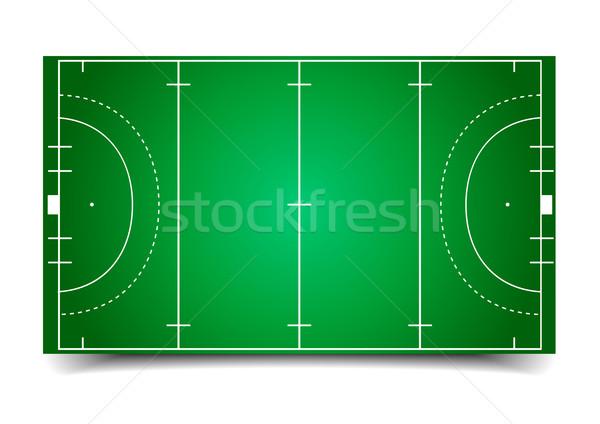 Hockey campo detallado ilustración eps10 vector Foto stock © unkreatives