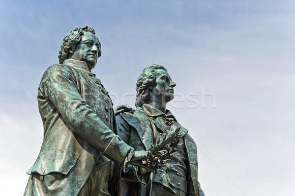 Goethe and Schiller Monument Stock photo © unkreatives