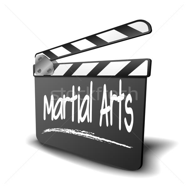 Tábla küzdősportok részletes illusztráció szimbólum film Stock fotó © unkreatives