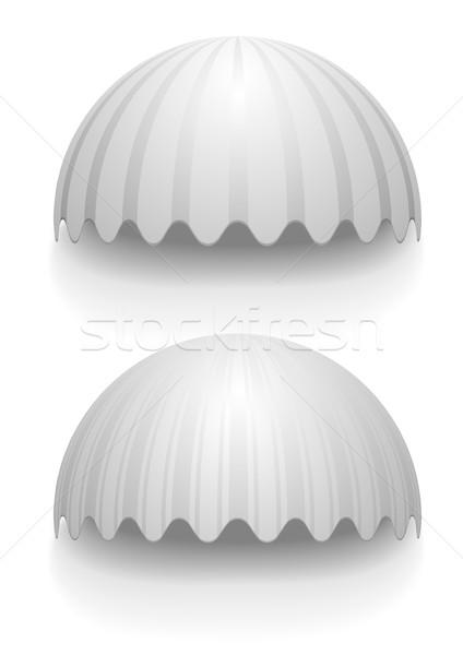 ストックフォト: 縞模様の · 詳しい · 実例 · 白 · eps10 · ベクトル