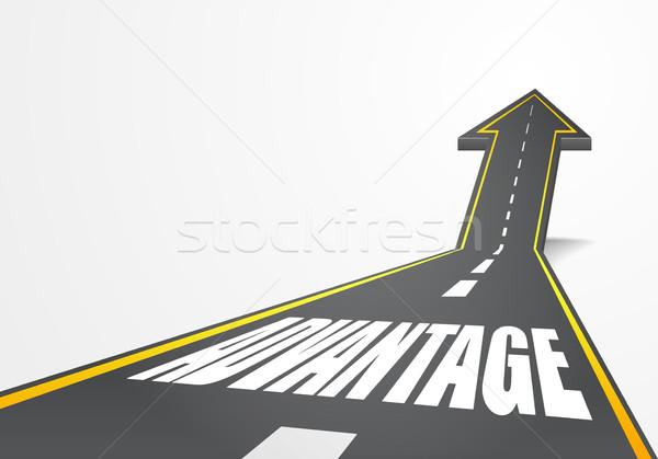 дороги преимущество подробный иллюстрация шоссе вверх Сток-фото © unkreatives
