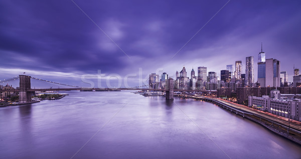Brooklyn Bridge with Manhattan Skyline Stock photo © unkreatives
