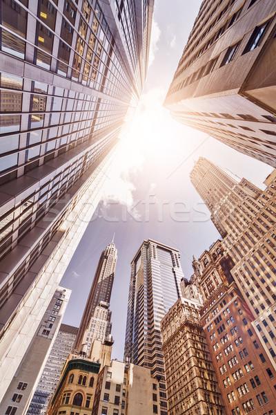 солнце множественный Manhattan Финансовый район новых Сток-фото © unkreatives