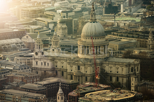 Aerial View St Pauls Cathedral Stock photo © unkreatives