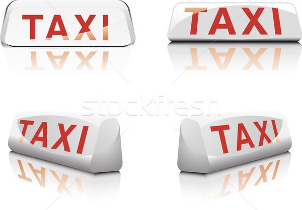 Taxi Zeichen Französisch Zeichen unterschiedlich Auto Stock foto © unkreatives