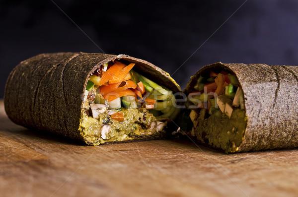 Rauw voedsel omhoog veganistisch ingrediënten Stockfoto © unkreatives