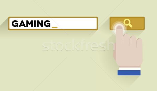 Keresés számítógépes játékok minimalista illusztráció bár kulcsszó Stock fotó © unkreatives