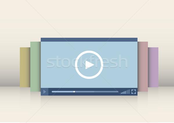 Illustration Schnittstelle eps10 Vektor Technologie Stock foto © unkreatives