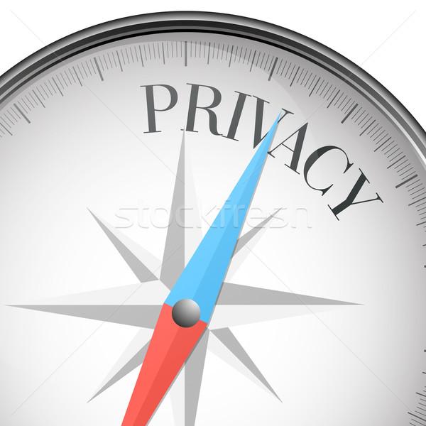 Brújula intimidad detallado ilustración texto eps10 Foto stock © unkreatives