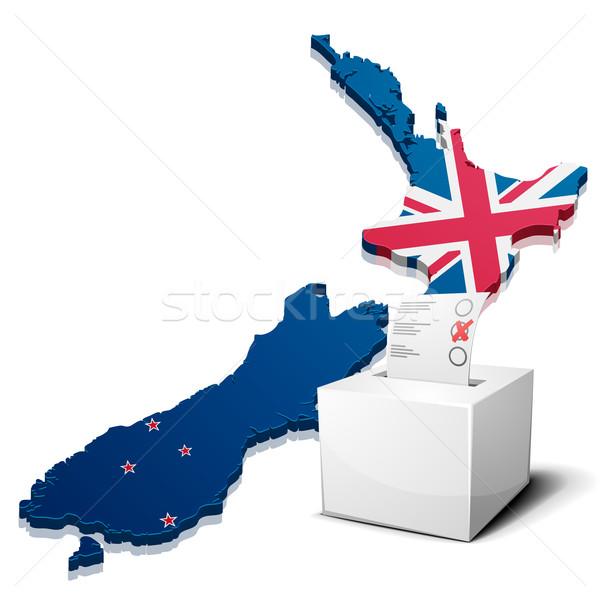 ballotbox New Zealand Stock photo © unkreatives