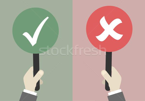 Işaretleri evet minimalist örnek eller Stok fotoğraf © unkreatives