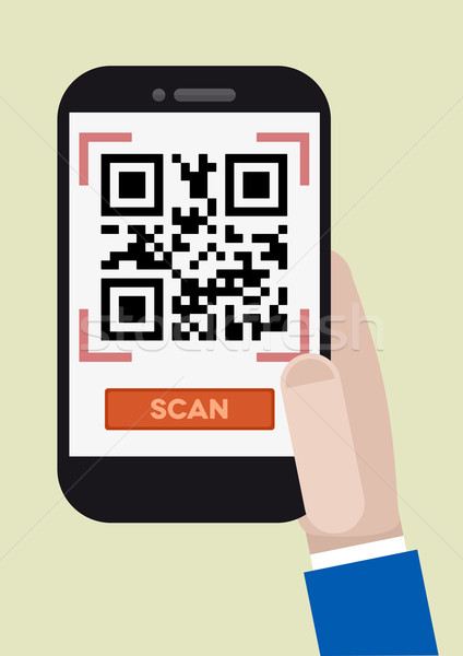 qr code scan Stock photo © unkreatives
