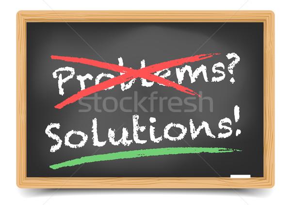 Blackboard Problems Solution Stock photo © unkreatives