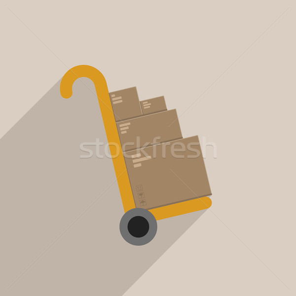 handtruck Stock photo © unkreatives