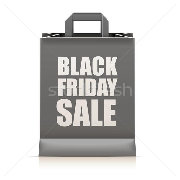 Black friday détaillée illustration noir vente texte Photo stock © unkreatives