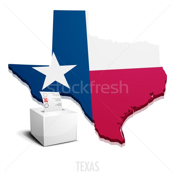 Stock fotó: Térkép · Texas · részletes · illusztráció · eps10 · vektor