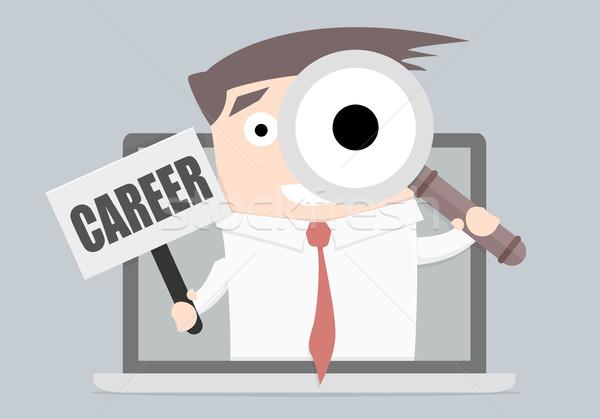 Affaires carrière portable verre faible Photo stock © unkreatives