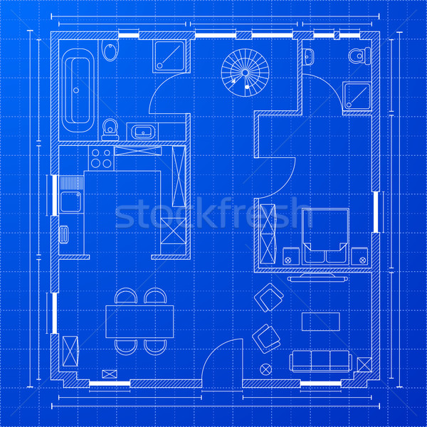 blueprint floorplan Stock photo © unkreatives
