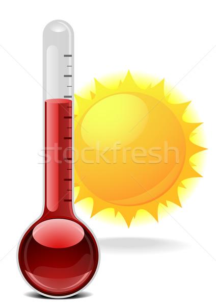 Thermometer zon illustratie gezondheid achtergrond zomer Stockfoto © unkreatives