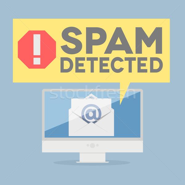 спам предупреждение иллюстрация контроля Сток-фото © unkreatives