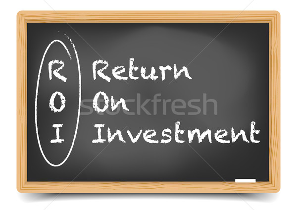 Blackboard ROI Stock photo © unkreatives