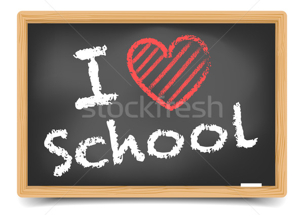 Blackboard love school Stock photo © unkreatives