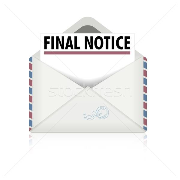 Finale détaillée illustration ouvrir enveloppe Photo stock © unkreatives