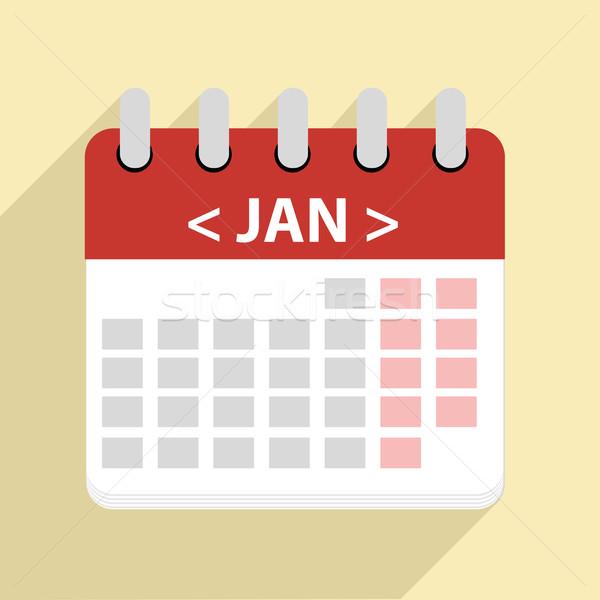Сток-фото: иллюстрация · календаря · eps10 · вектора · служба