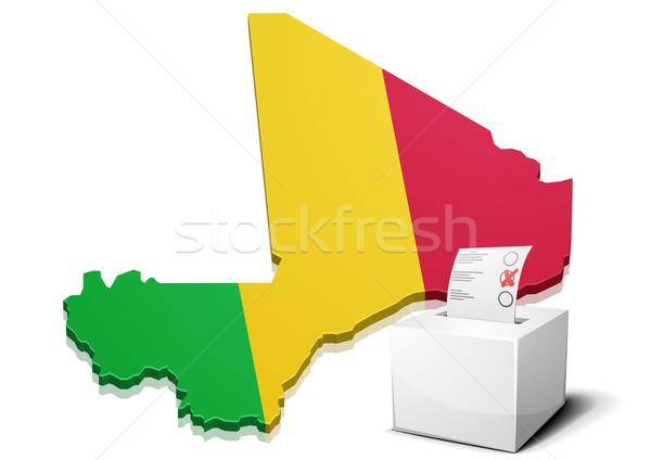 ballotbox Mali Stock photo © unkreatives