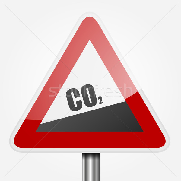Stock photo: Traffic Sign CO2
