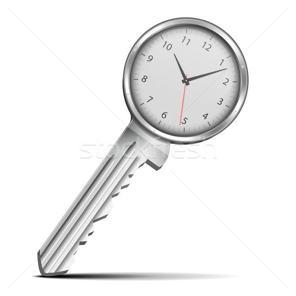 Key with clock Stock photo © unkreatives