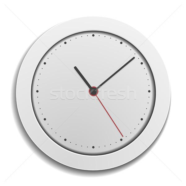 Simples moderno relógio detalhado ilustração branco Foto stock © unkreatives
